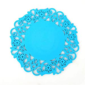 Flowers Round Silicone Coasters Candy Color Insulation Pads Placemats Cup Mats pictures & photos