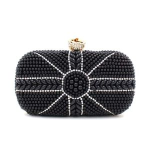 Noble Fashion Bag Pearl Diamond Wedding Evening and Clutch Bag (XW0945) pictures & photos