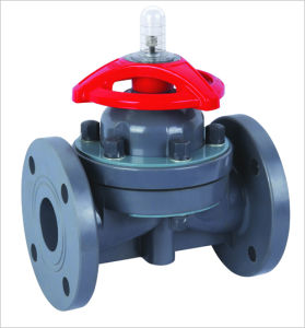 Diaphragm Valve, Flange Diaphragm Valve/PTFE pictures & photos