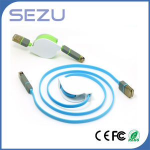 Fashion 2 in 1 Retractable USB Data Charging Cable for iPhone pictures & photos