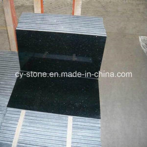 Natural Stone Black Galaxy Granite Tile for Countertops and Tiles pictures & photos