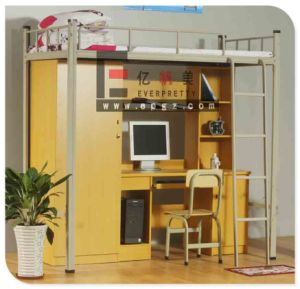 School Student Dormotory Bunk Bed with Desk pictures & photos