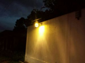 Integrated Solar LED Wall Lamp with Adjustable Solar Panel pictures & photos