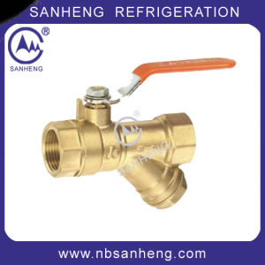 Air Conditioner Dn20 Ball Valve with Filtering pictures & photos