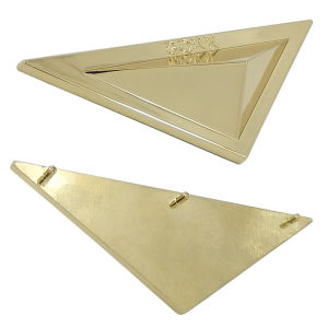 Gold Triangle Metal Logo Plate for Handbag pictures & photos