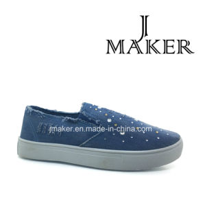 Wholesale Ladies Style Casual Canvas Shoe Jm2027-L) pictures & photos