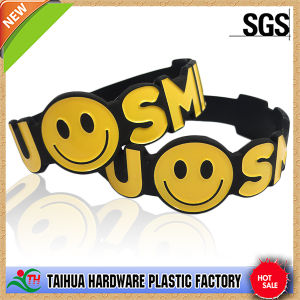 Special Shape Silicone Bracelet with Debossed Ink-Filled (TH-6278) pictures & photos