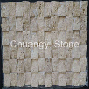Travertine Stone Mosaic Tile for Home Decoration/ pictures & photos