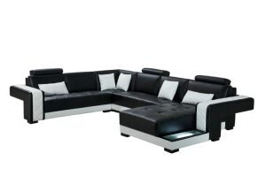 Big Size U Shaped Sectional Leather Sofa Set pictures & photos