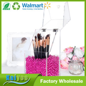 Premium Quality Brush Holder Acrylic Makeup Organizer with Free Rosy Pearls 5mm pictures & photos