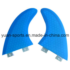 Blue Colour Glassfiber Honeycomb G7 G5 Fcs Surf Fin for Wholesale pictures & photos