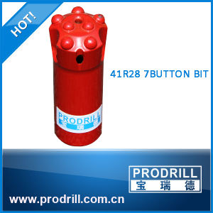 R28-41mm, 7buttons, Regular, Thread Button Bit pictures & photos