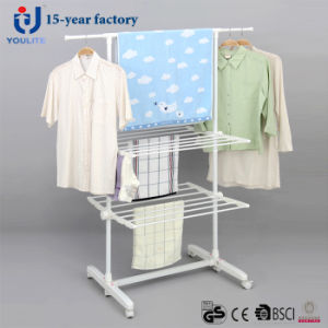 Powder Coated Two Layer Telescopic Garment Hanger pictures & photos