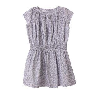 Light Purple Girls′ Cotton Dress pictures & photos