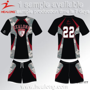 Healong Latest Design Sportswear 3D Printing Polyester Football Jersey pictures & photos