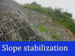 Hexagonal Netting Slope Stabilization Systems pictures & photos