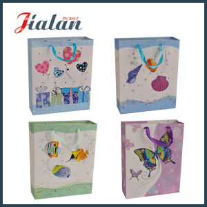Customize Design Logo Printed Shiny Finishing Wholesales Paper Promotion Bag pictures & photos