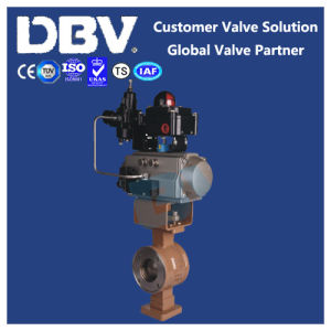 Pneumatic Operated V Type PTFE Seat Wcb Ball Valve