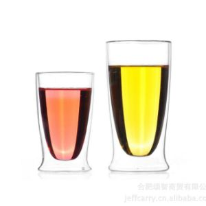 Double Wall Glass Flower Tea Cup Office Milk Cup Glass Coffee Cup pictures & photos