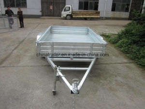 Hot Dipped Galvanised Box Trailer with Removable Cage pictures & photos