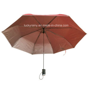 Three Folding Advertising Flash Light Handle Umbrella for Promotion