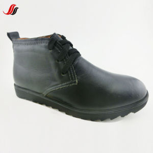 High Quality Winter Men′s MID-Cut Leather Shoes Leather Boots (BL-1) pictures & photos