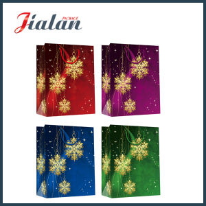 128GSM Coated Paper Fashion Christmas Packing Hand Gift Paper Bag pictures & photos