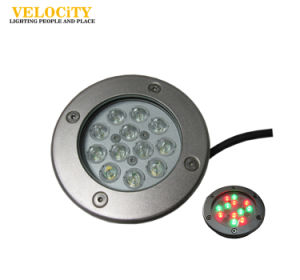 12PCS Stainless Steel Recessed IP68 RGB LED Underwater Pool Light for Landscaping
