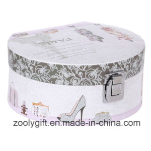Semicircle Cosmetic Printing Paper Gift Box with Mirror and Lock pictures & photos