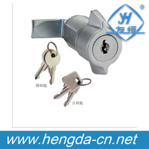 Yh9727 Zinc Alloy Cam Lock with Square and Round Keys pictures & photos