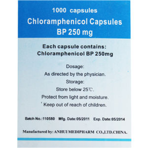 Chloramphenicol Capsules 1000′s/Bottle GMP Medicine pictures & photos