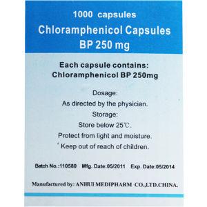 Chloramphenicol Capsules 1000′s/Bottle GMP Medicine pictures & photos