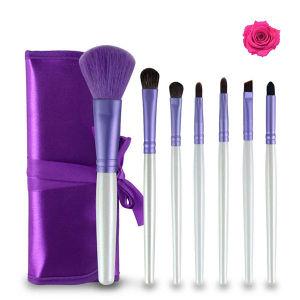 7 Pieces Super Amart Light Purple Portable Makeup Brush