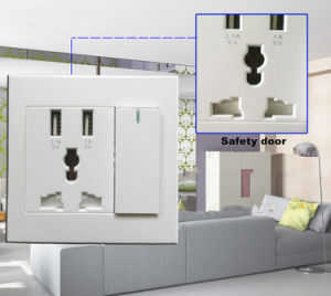 High Quality Multi-Function Wall Socket Charger Plate USB Wall Socket pictures & photos
