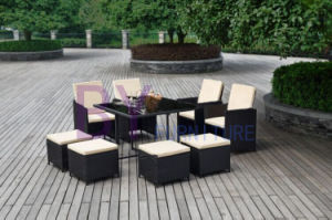 Hb21.0396 9 Piece Rattan Cube Dining Set pictures & photos