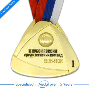 Factory Price Free Design Custom Wholesale Zinc Alloy Round Soft Enamel 3D Gold Boxing Race Running Marathon Sports Award Souvenir Metal Medal with Neck Ribbon pictures & photos