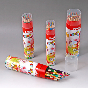 High Quality Environmental Wooden Color Pencil with Paper Tube pictures & photos