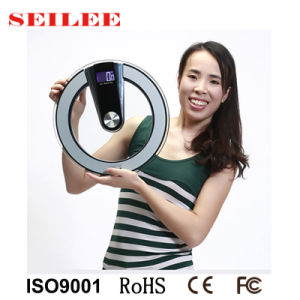 8mm Clear Glass Digital Personal Electronic Platform Scale pictures & photos
