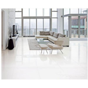 Building Material Snow White Double Loading Polished Porcelain Floor Tile pictures & photos