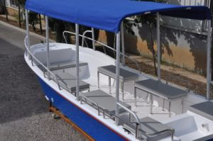 Liya 5.8m 8 Persons Fiberglass Fishing Shipping Boat with Outboard Motors pictures & photos