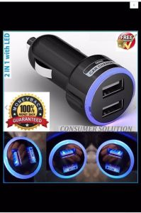 OEM 2 Port USB Car Charger with LED Llighting pictures & photos