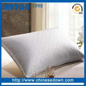 Cotton Fabric White Down Pillow with Cotton Pillow Protectors pictures & photos