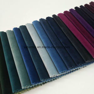 Polyester Home Textile Dyed Woven Cut Velvet Upholstery Sofa Fabric pictures & photos