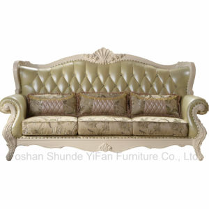 Sofa Set with Wooden Table Cabinets for Home Furniture pictures & photos