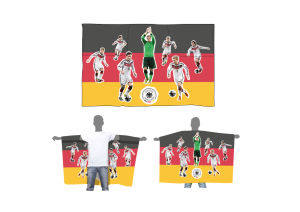 Promotional Economy Fan Polyester Body Flag, Cape Flag pictures & photos