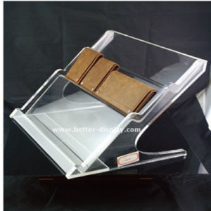 Custom Plastic Clear Acrylic Wallet Display Rack pictures & photos