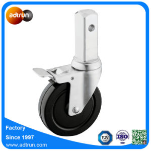 Solid Rubber Square Stem Scaffolding Caster Wheels pictures & photos
