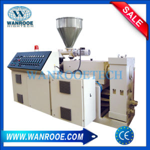 Conical Twin Screw PVC Profile PVC Plastic Pipe Extruder Machine pictures & photos