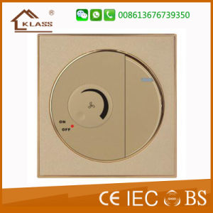 2 Gang Wall Switch with Golden Ring pictures & photos