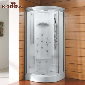 White Color Complete Shower Room with Two Sliding Panels pictures & photos